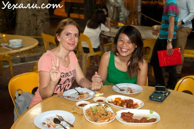 Сінгапур, вулична їжа.