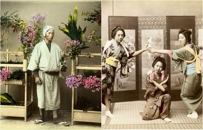 28 Кольорових ретро фотографій 1865 року, на яких відображена японія і її жителі