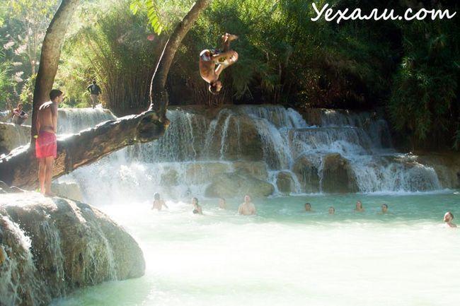 Пам`ятки Луанг Прабанг: водоспад Куанг Сі (Kuang Si Waterfall)