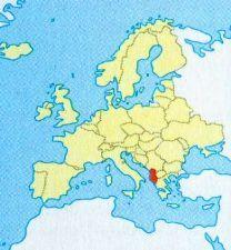 Албанія на мапі