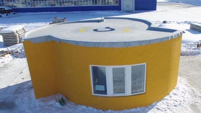Американська компанія роздрукувала на 3D-принтері будинок в Росії всього за 24 години!