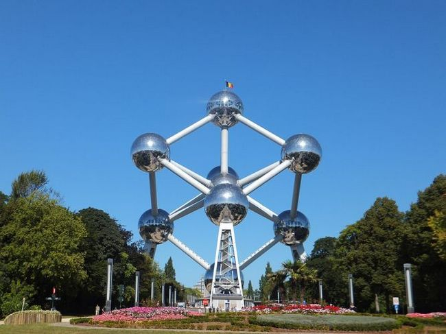 Атоміум (atomium) - пам`ятка і символ брюссель, бельгія