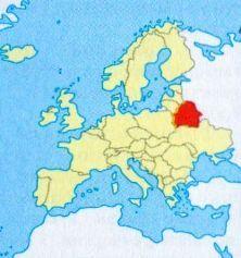 Білорусія на мапі