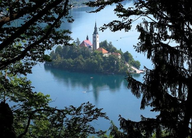 Бледське озеро (lake bled), словенія