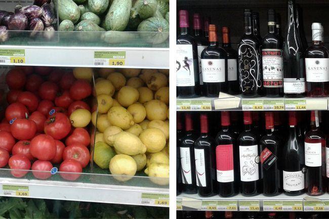 Ціни в Афінах на їжу і продукти