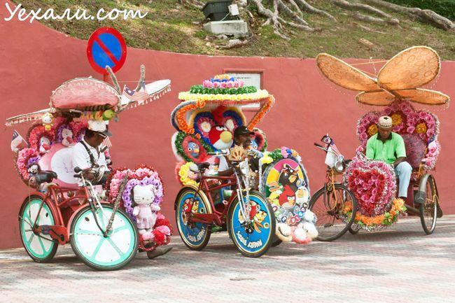 Ціни в Малайзії: велорікша в Малакці