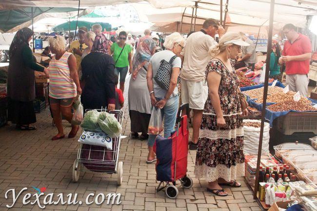 Ціни в Туреччині на продукти: вівторковий ринок Махмутлара.