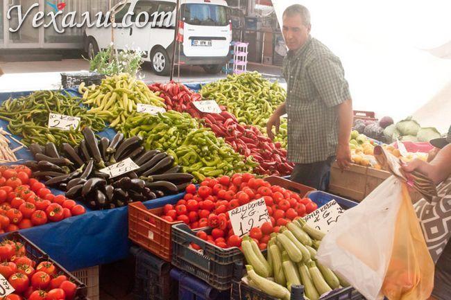 Ціни в Туреччині на їжу: вівторковий ринок Махмутлара.