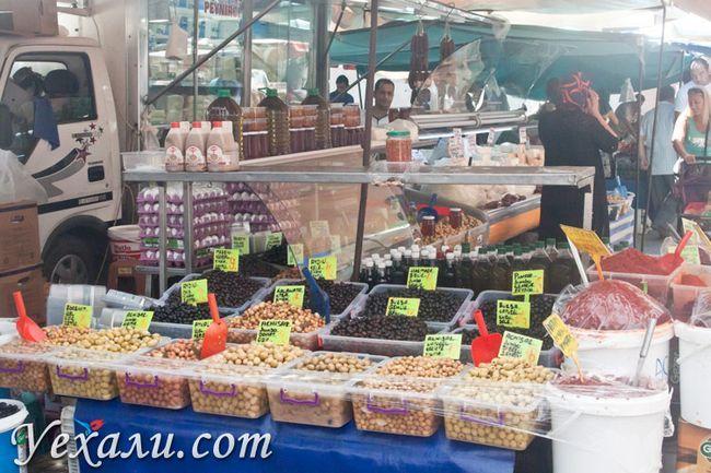 Ціни на їжу в Туреччині: суботній ринок Махмутлара.