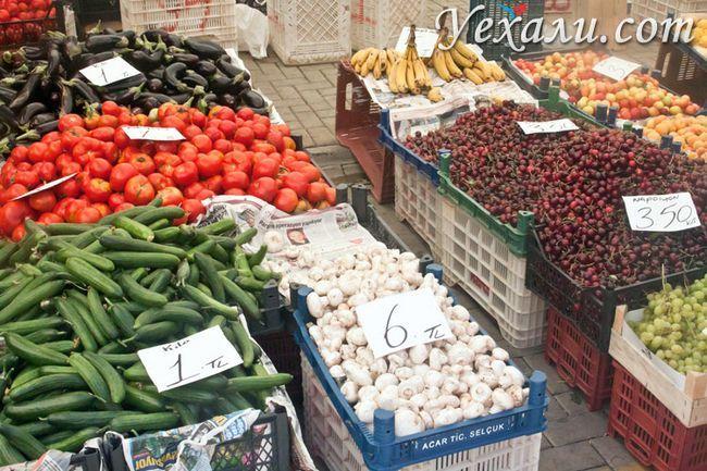 Ціни в Туреччині на продукти: ринки Махмутлара.