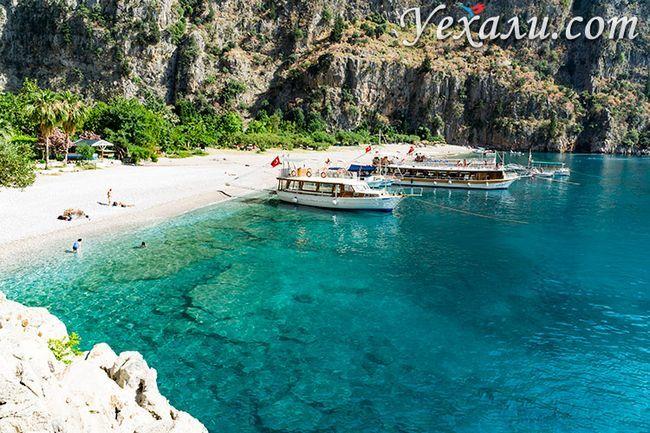 Пляж Долина Метеликів в Туреччині, Фетхіє.
