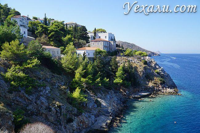 Ландшафт острова Ідра в Греції