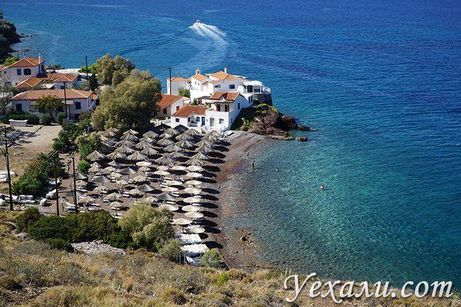 Фото острова Ідра, пляж