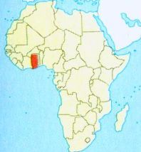 Гана на мапі