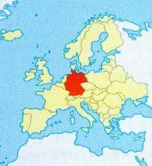 Німеччина на мапі
