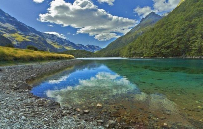 Блакитне озеро (blue lake) - прісне озеро в національному парку озер нельсона, нова зеландія