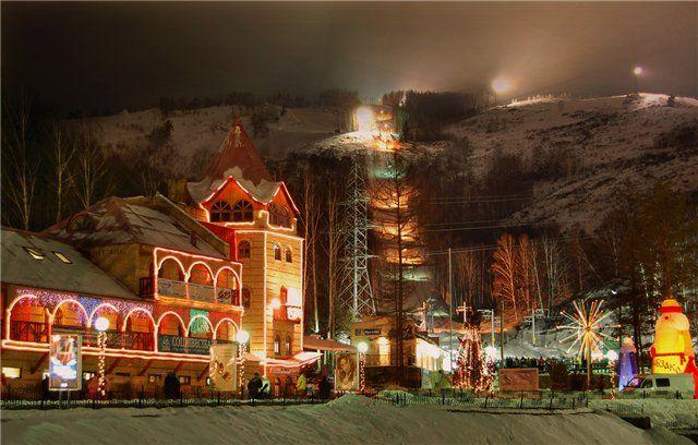 Гірськолижний курорт абзаково .южний урал.