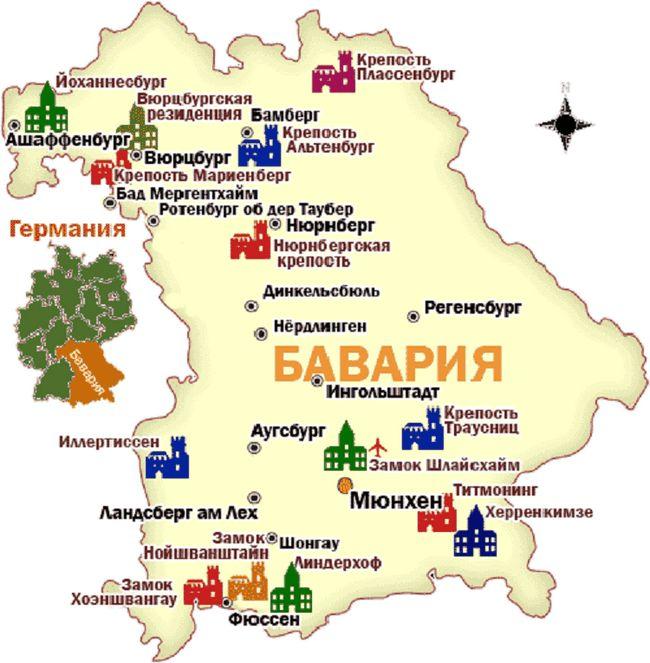 Держава германію в сучасному світі: детальна карта з містами російською мовою