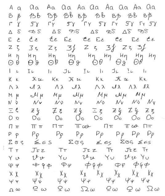 Грецький алфавіт: основи, літери і їх звучання