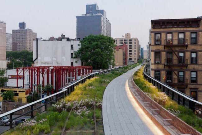 Хай-лайн (the high line - висока лінія) - парк в манхеттені на висоті 10 метрів, нью-йорк, сша