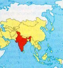 Індія на карті