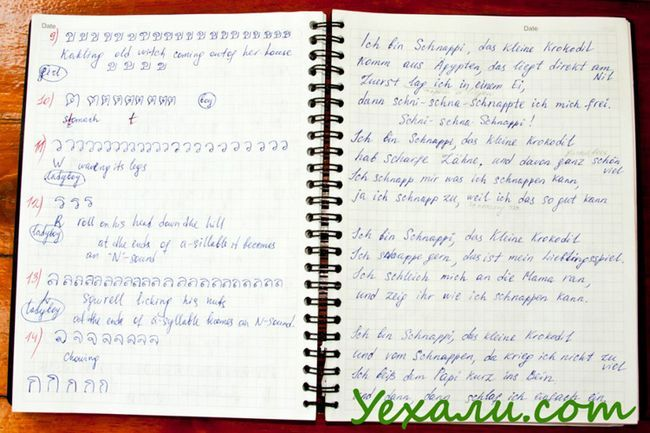 Thai language copybook