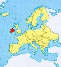 Ірландія на карті