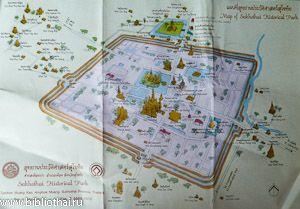 Карта Історичного парку Сукхотай