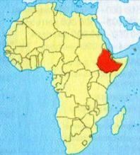 Ефіопія на мапі