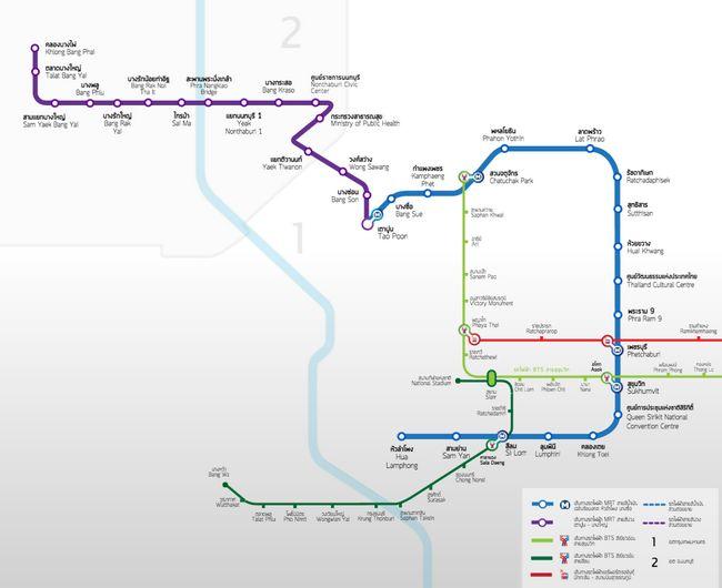 Метро Бангкока: інструкція, як оплачувати проїзд.