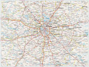 Карта московської області