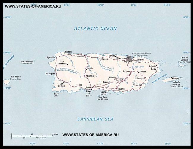 Карта доріг Пуерто-Ріко