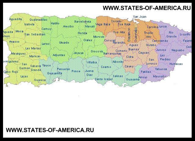 Карта розподілу Пуерто-Ріко