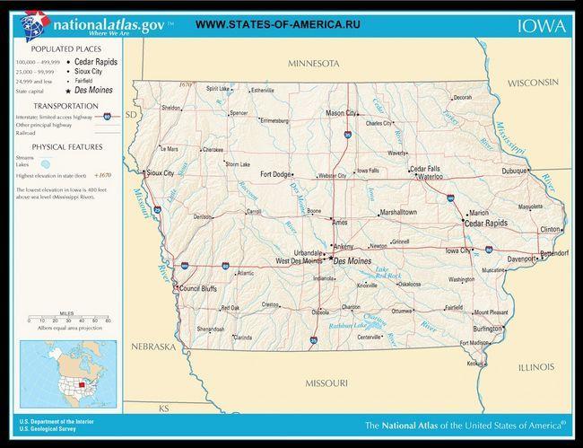 Карта доріг Айови