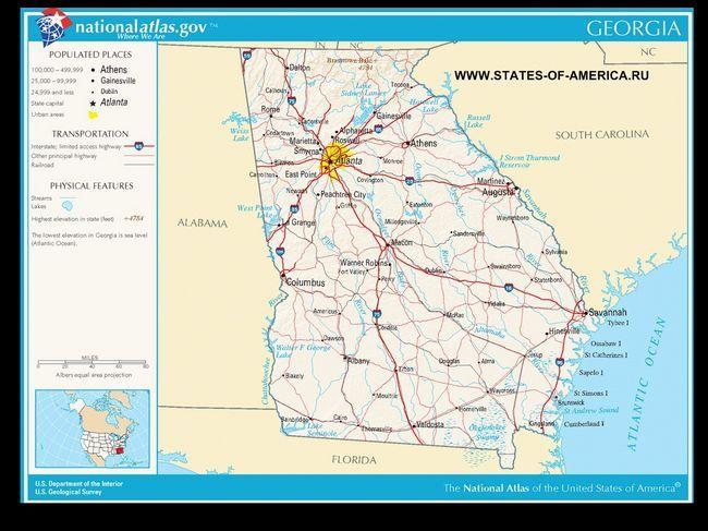 Карта доріг Айдахо