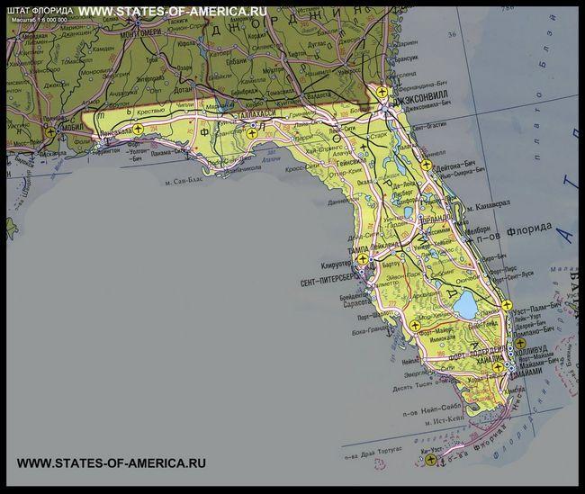 Карта штату флорида