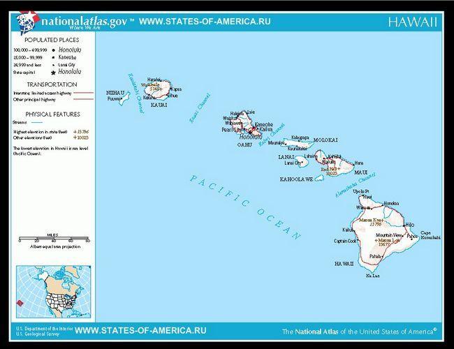 Карта доріг штату Гаваї