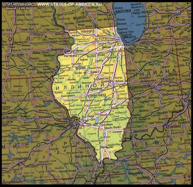 Карта штату іллінойс