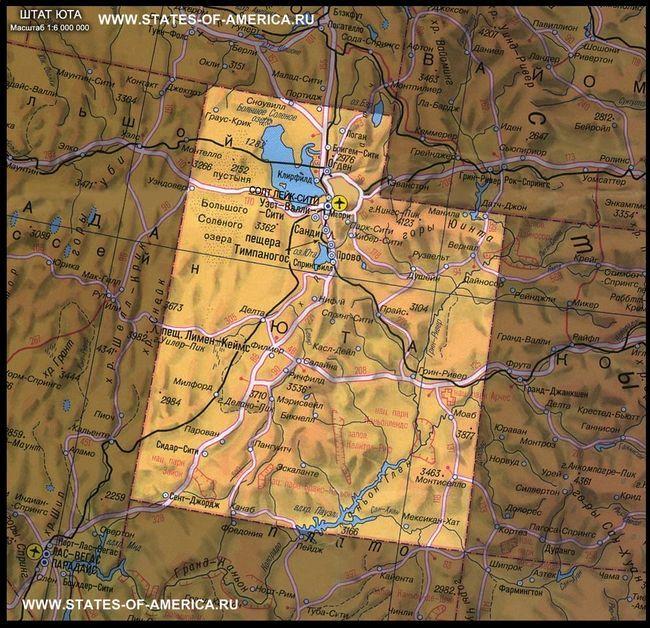 карта Юти