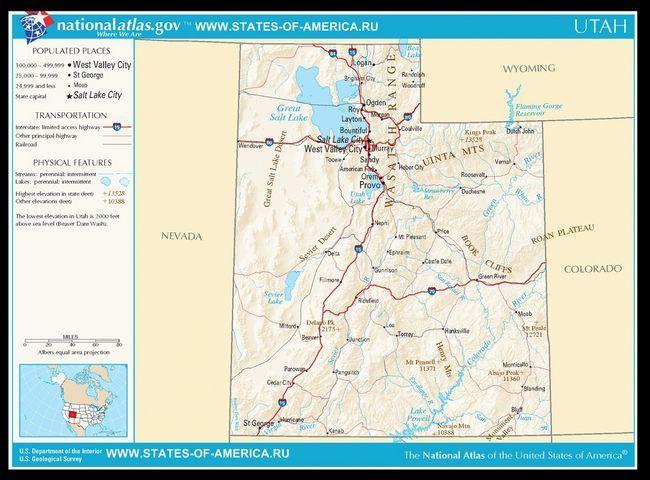 Карта доріг Юти