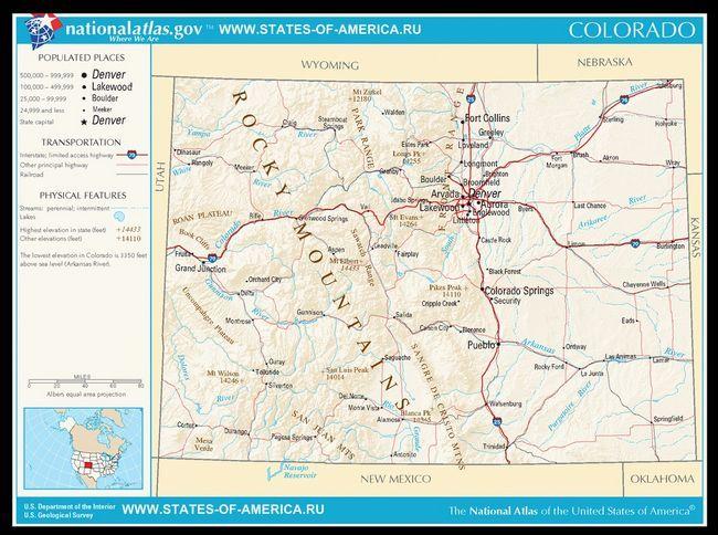 Карта доріг Колорадо