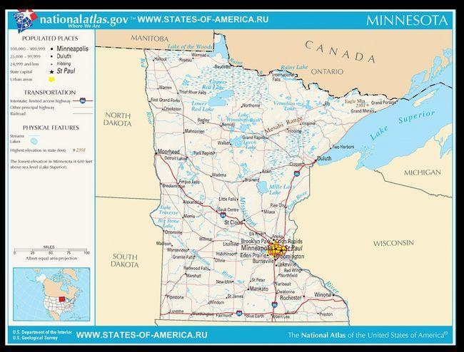 Карта доріг Міннесоти