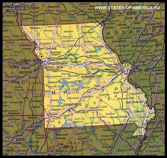 Карта штату штат