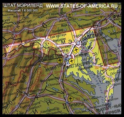 Карта штату меріленд