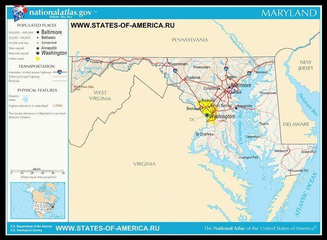 Карта доріг Меріленда