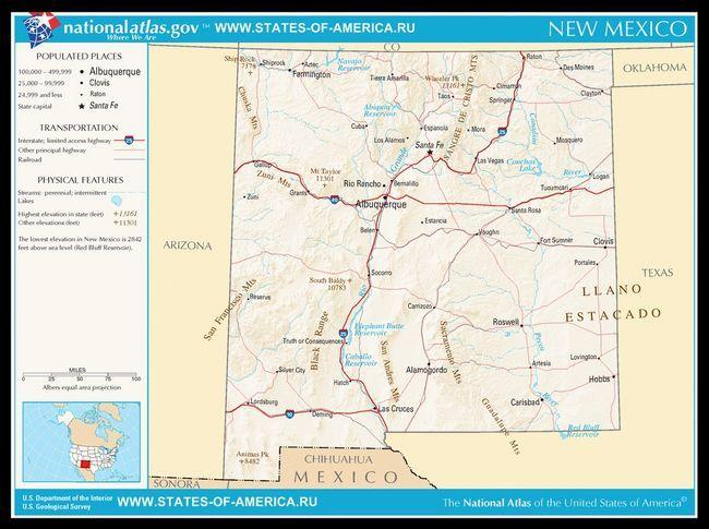 Карта доріг Нью-Мексико