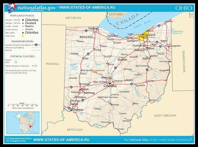 Карта доріг Огайо