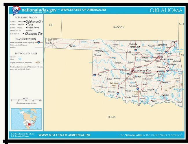 Карта доріг Оклахоми