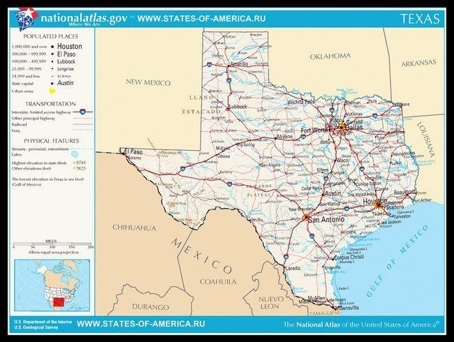 Карта доріг Техасу