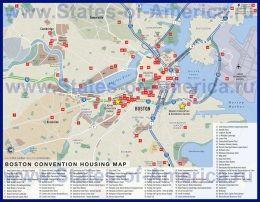 Карта готелів Бостона